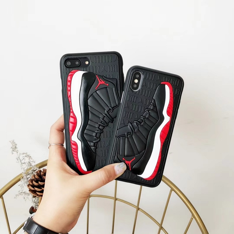 Fashion 3D NBA Air Dunk Jordan Sports Basketball Shoes Soft Phone Cases For iphone 6 6S 7 8 Plus X XS XR MAX 10 Back Cover Case