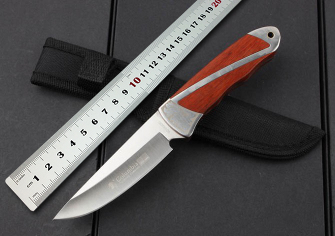 NEW K308C font b Hunting b font Fixed font b Knife b font 3Cr13Mov Wood Steel
