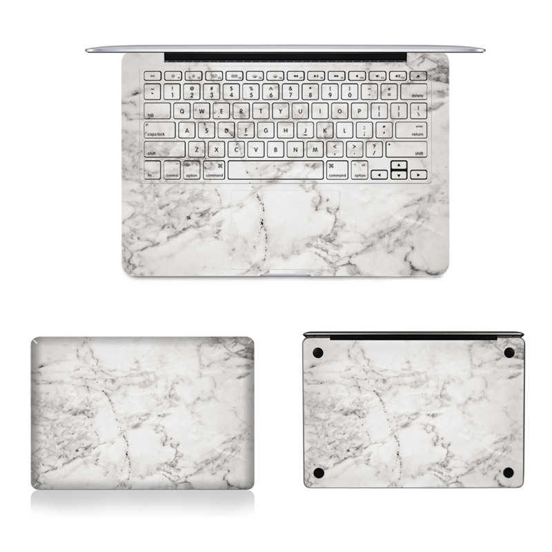 "Grey Marble Texture Laptop Body Decal Protective Skin Vinyl Stickers for Macbook Air Pro Retina 16"" 12"" 13"" 15 A2141 A1932 A1466"