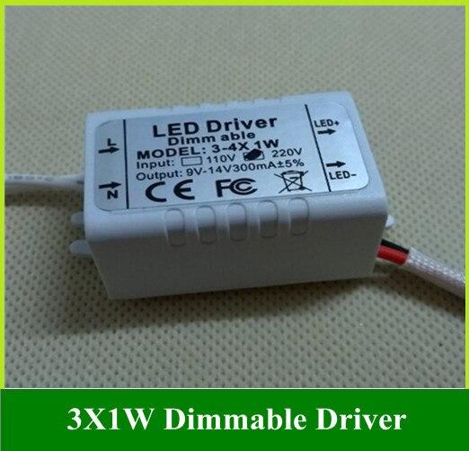 Затемнения потолочный светильник светодиодный драйвер вне drive 3x1 Вт 3 Вт Мощность трансформатор 10 шт.
