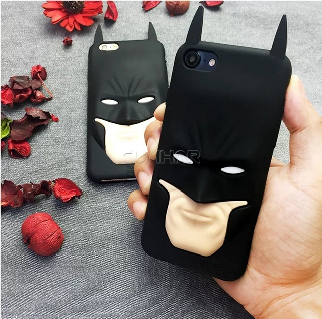 3D Superhero Batman Silicon Rubber Phone Case Cover for iPhone
