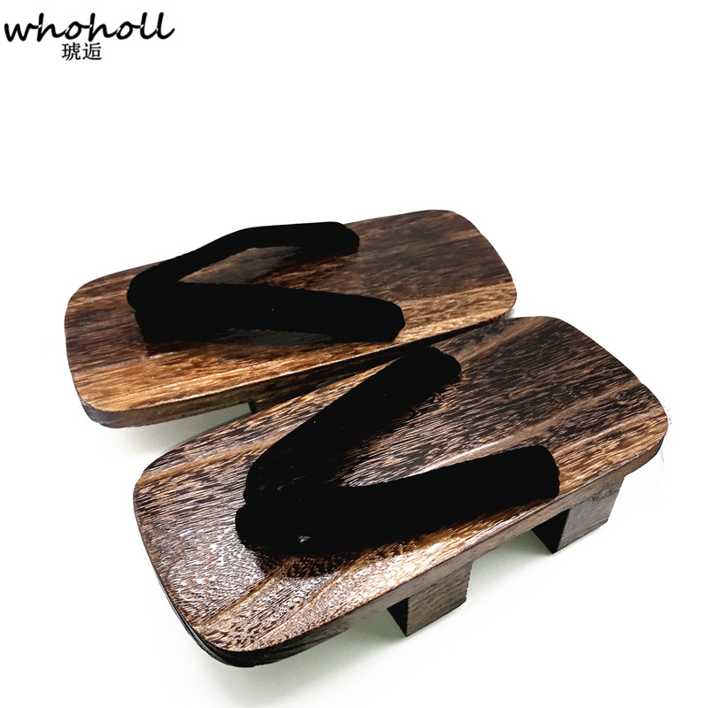 da8cf3770c3 WHOHOLL Japanese Geta Clogs Man Sandals Wooden Shoes Men Two toothed Heel  Platoform High Summer Sandals Cos Indoor Home Shoes-in Men s Sandals from  Shoes on ...