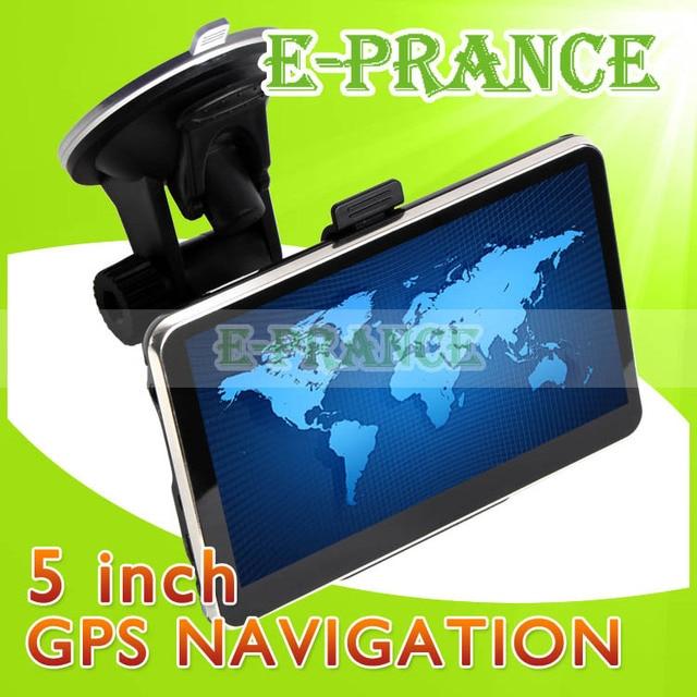[30% OFF] Free Map !! Vehicle Navigation Car GPS Navigator 5 inch HD Touch Screen+Build-in 4GB+RAM 128MB+MTK 3351 CPU