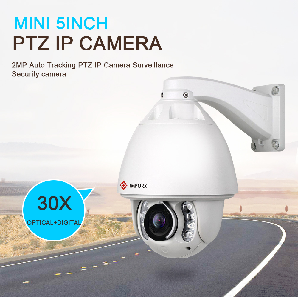 IMPORX Surveillance Camera Full HD Security Camera Dome Wireless Wifi Auto Tracking Camera With 30X 3MP Audio Zoom CCTV IR 150M
