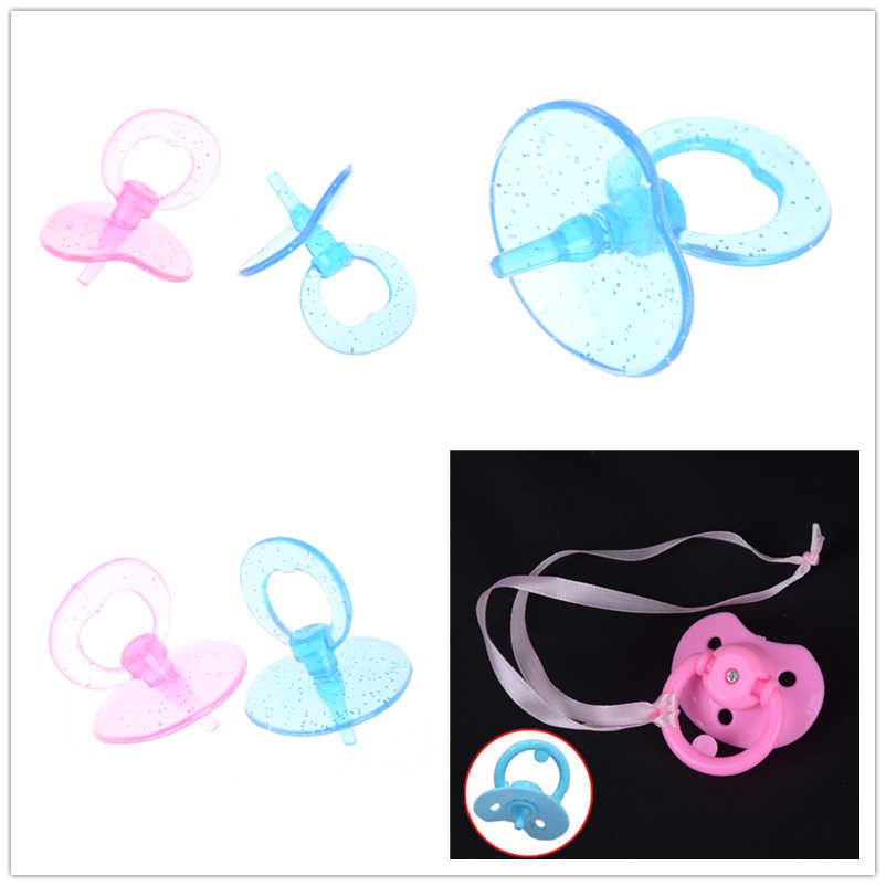 1PC/2pcs Baby Doll Sucking Plastic Pacifier for Dollhouse Nursery Room Acce Funny Play Mom Game Toy Chrismas Gift