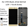NEW High Quality Black/White/Gold 5.5 inch For ZTE Blade A910 BA910 LCD Display + Touch Screen Digitizer Assembly Replacement