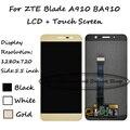 Nova alta qualidade preto/branco/ouro 5.5 polegada para zte blade a910 ba910 display lcd + touch screen digitador assembléia substituição