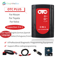 Diagnostic Tools Scanner OTC Plus 3 in 1 Fornissan Fortoyota Forvolvo Tester OBDScanner GTS With HDD Support Muti Language