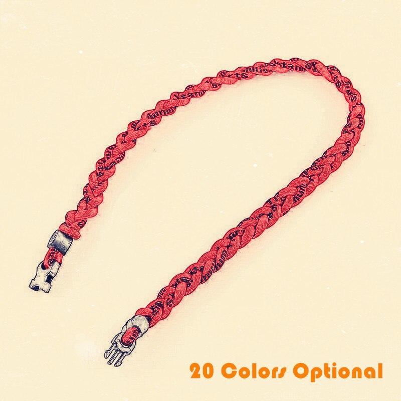 1 Pc Tornado Twist Titanium Sports Baseball Necklace Sport Ropes Triple Twist Titanium Necklace 20