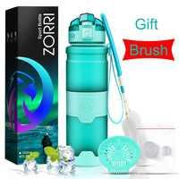 Botella de agua de ZORRI Infusor de fruta de limón botella de agua coctelera de bicicleta botella de agua