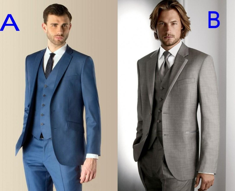 Online Buy Wholesale blue and grey suit from China blue and grey ...