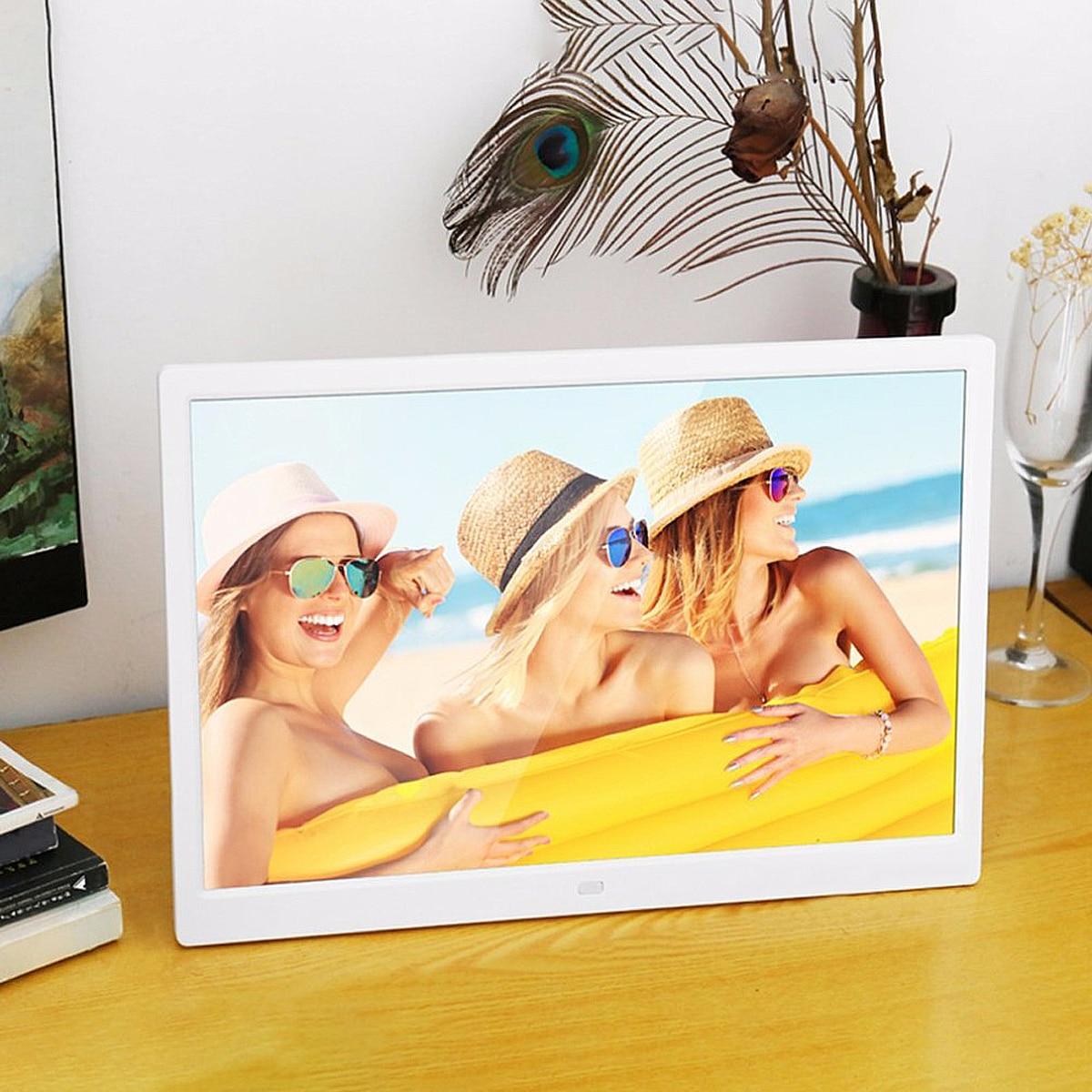Cadre électronique de cadre photo numérique de 7 pouces avec réveil MP4 lecteur de film réveils Photos cadres Support SD, MMC, USB