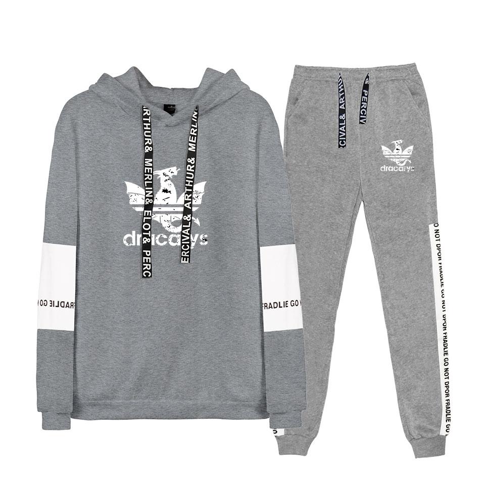 2019 Autumn/Winter Game Of Thrones Hoodies Hip Hop Dracarys Sweatshirts And Sweatpants Women/Men Two Piece Set Hooded Suit