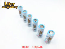2 шт./лот 18500 аккумуляторы 18490 реальные 1600 мАч литий ионные, литиевые, 3,7 в перезаряжаемые фонарики, фонарик, аккумулятор, внешний аккумулятор, светодиодная энергия