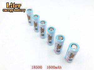 Image 1 - 2pcs/lot 18500 Batteries 18490 Real 1600mAh Li ion Lithium 3.7V Rechargeable FlashLight Torch Battery Power Bank LED Energy