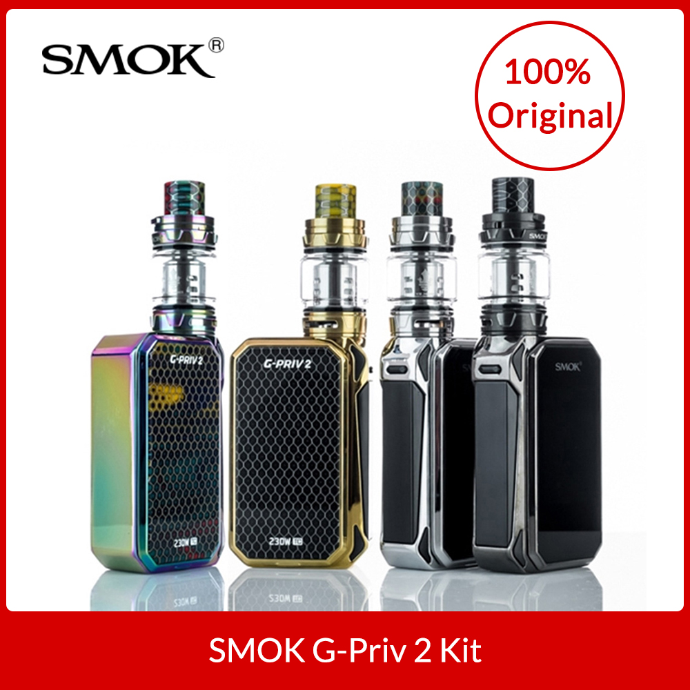 Originale SMOK G-Priv 2 Kit Luxe Edizione 230 w Touchscreen con TFV12 Principe Serbatoio 8 ml + Bobine per Sigaretta Elettronica vape Kit