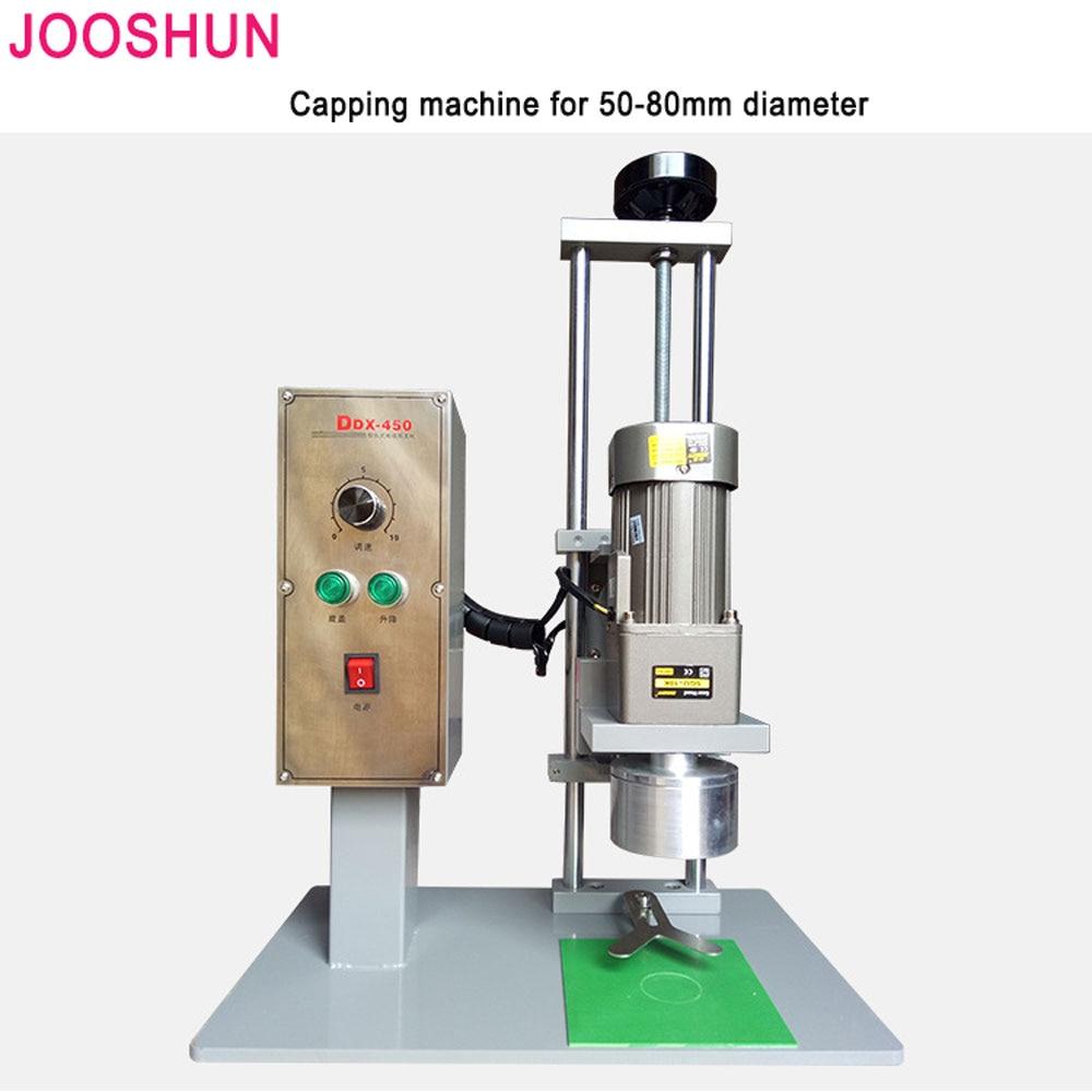 US $500 12 18% OFF|50 80mm Diameter Capping Plastic Bottle Cap Sealing  Machine Electric Desk Automatic Screw Capper Round Cap Lid Packing  Machine-in