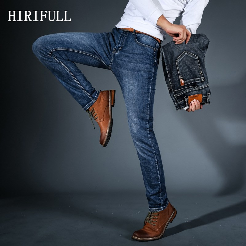 New Fashion Four Season   Jeans   Men High Quality Brand Denim Trousers Slim Stretch Straight Men Pants Large Big Size Plus 28-40