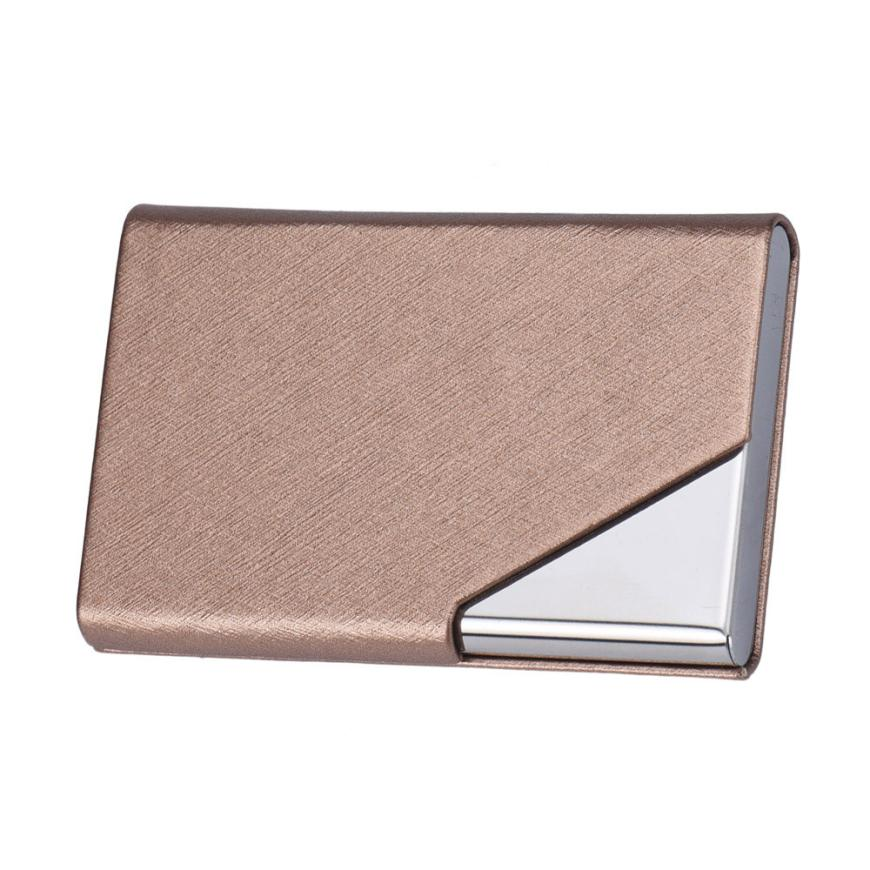 New Mini Box Pocket Wallet Business Name ID Credit Card Case Holder waterproof document case porte carte bancaire mini code case style name card holder box silver