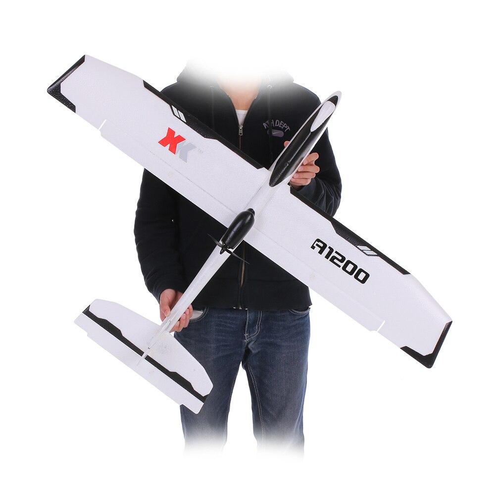 WLtoys XK A1200 3D 6G Motor Brushless Fixo-ala EPO Avião FPV 5.8G 2.4G 6CH S-FHSS RC Avião Planador RTF 89 CM Comprimento Zangão