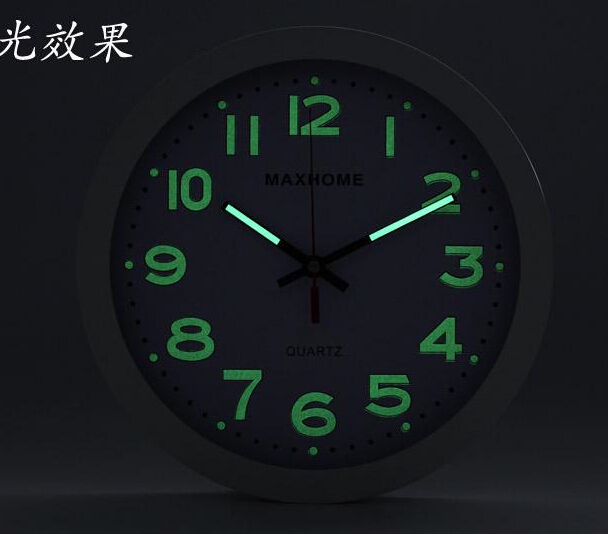 Home Decor Wall Clock Modern Design Silent Luminova Wall