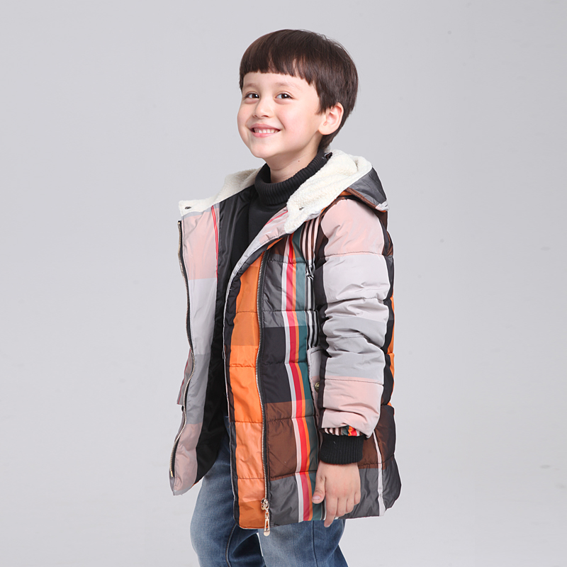4 13Years Old Brand High Quality Children s Winter Down Cotton Jackets Baby Warm Down Coat