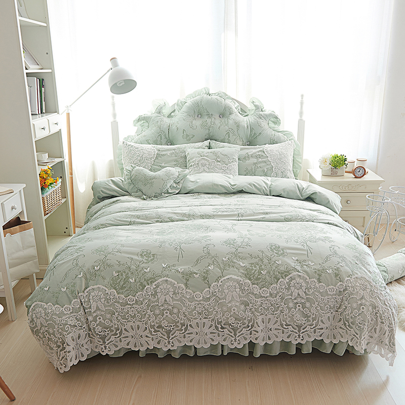 Princess Lady Style Fleece Winter Bedding Set Full Queen