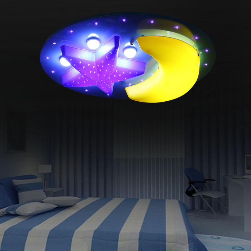 Free shipping children ceiling light baby room light moon star night free shipping children ceiling light baby room light moon star night light bedroom led light lovely in ceiling lights from lights lighting on aloadofball Image collections