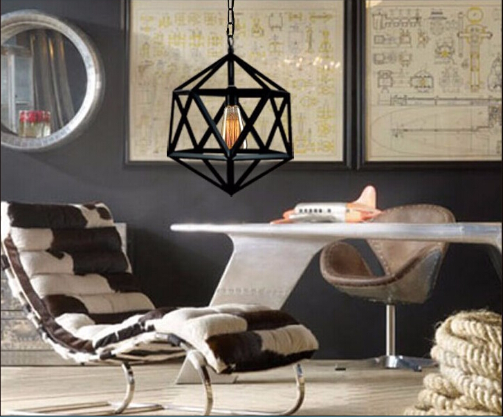 Industriele Hanglamp Keuken : Nordic stijl vintage industriële iron hanglamp retro land effen
