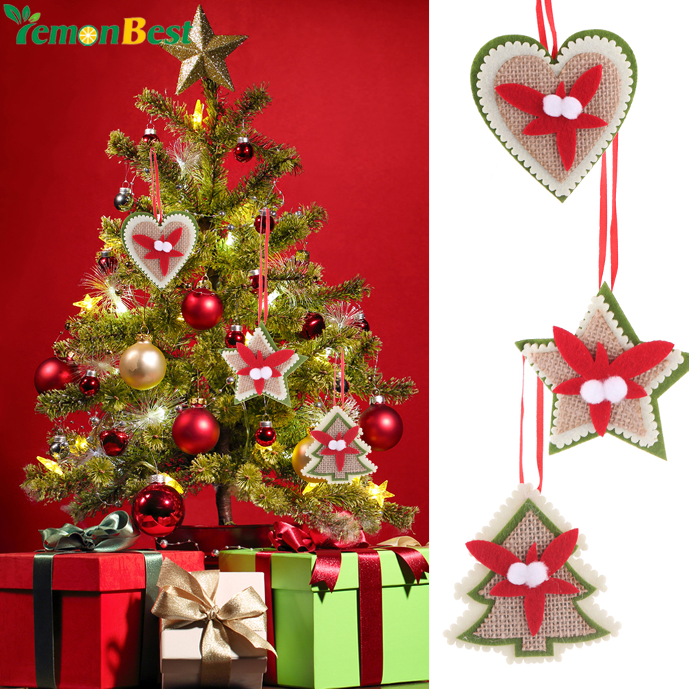 Big W White Christmas Tree: Non Wovens Star Heart Christmas Tree Pattern Ornaments