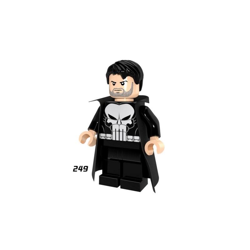 Single Sale Super Heroes Star Wars 249 Punisher Model Mini Building Blocks Figure Bricks Toy Kids Gift Compatible Legoed Ninjaed
