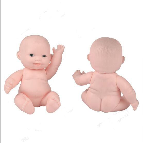 Hurtownie 12 CM 4 Style piękny Vinyl dziecko w kąpieli lalki dla dzieci dom zabaw zabawki 50 sztuk/dużo E030601 w Lalki od Zabawki i hobby na  Grupa 2