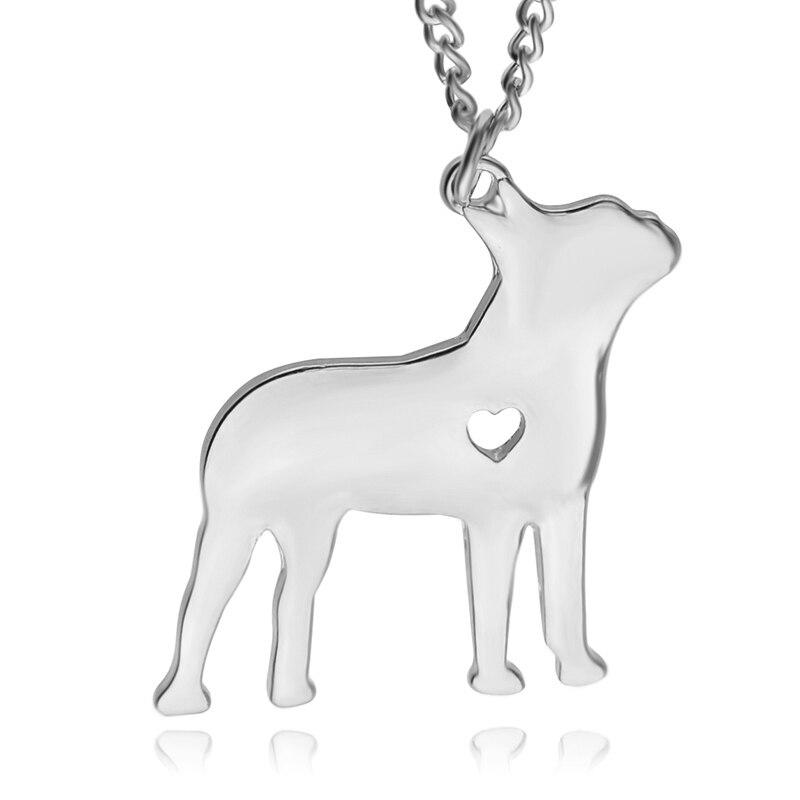 71073fa6c8d28 Gravar Pingente Animal Cão Estorninho Prata Colar De Ouro Amor Sorte  Especial Simples Moda Jóias de Presente de Aniversário Para O Melhor Amigo
