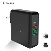 iNGMAYA PD USB Type C Charger 61W QC 3.0 Power Delivery For iPhone iPad Macbook HP Dell Samsung S10 Matebook USB C Wall Adapter
