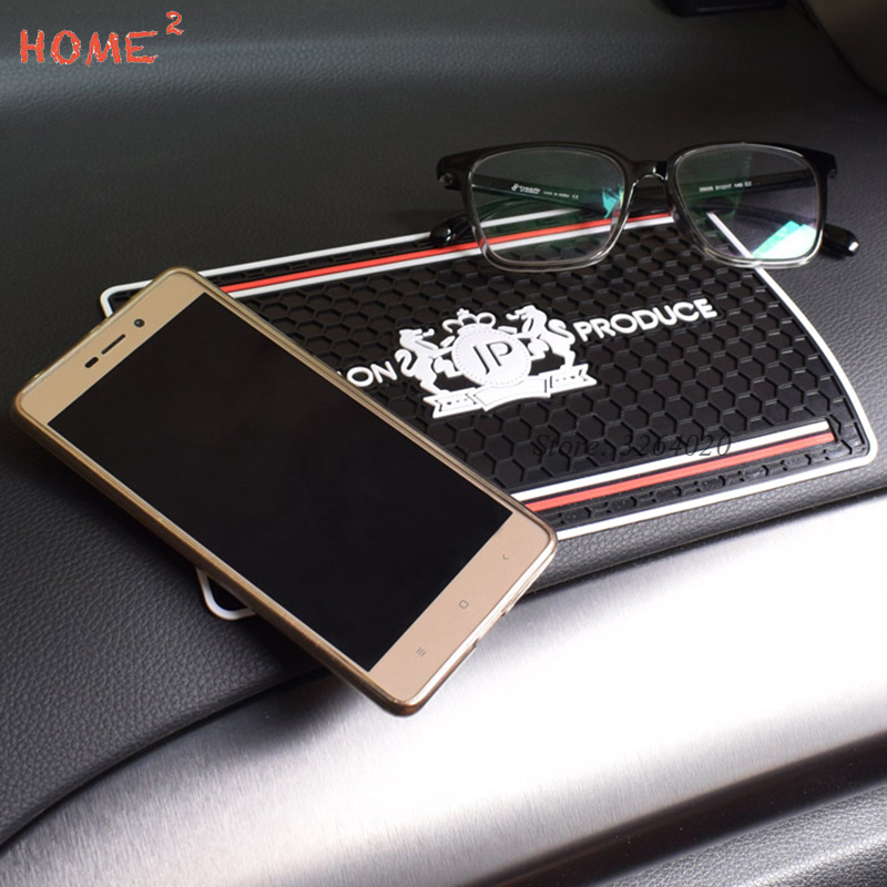 купить Car Styling Sticky Pad PVC Non-slip Mat Phone Holder for JP Logo for Land Rover LADA MINI Cooper Nissan Renault Volvo Yamaha KIA онлайн
