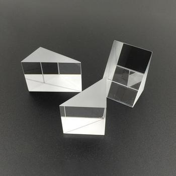 Szkło optyczne trójkątne pryzmaty kątowe pryzmaty soczewki optyczne K9 szklany materiał przyrząd do testowania 10mm * 10mm * 10mm tanie i dobre opinie Prism Laser Beam glass Cube other VAHIGCY Prisms Prism Mirror support about 10mm*10mm*10mm Triangular Prism Optical Instruments Prism Mirror