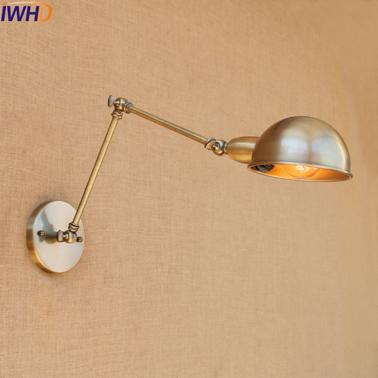 IWHD Antique Retro Vintage Wall Lamp LED Edison Wandlampen Swing Long Arm Wall Light Loft Industrial Home Stair Lighting SconceIWHD Antique Retro Vintage Wall Lamp LED Edison Wandlampen Swing Long Arm Wall Light Loft Industrial Home Stair Lighting Sconce