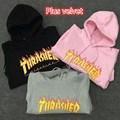 2016 Inverno Palácio Skates Thrasher Hoodie dos homens Chama Revista Trasher Gosha Harajuku Hip Hop Hoodies Camisolas Homens
