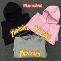 2016 Winter Thrasher Hoodie Men's Palace Skateboards Flame Magazine Sweatshirts Gosha Harajuku Hip Hop Trasher Hoodies Men