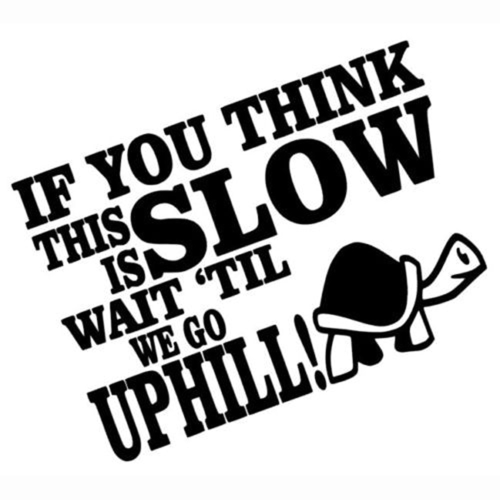 Funny Tortoise Sticker IF YOU THINK THIS IS SLOW WAIT Car Window Reflective StickerCar Body Bumper Decoration Sticker Waterproof in Car Stickers from Automobiles Motorcycles