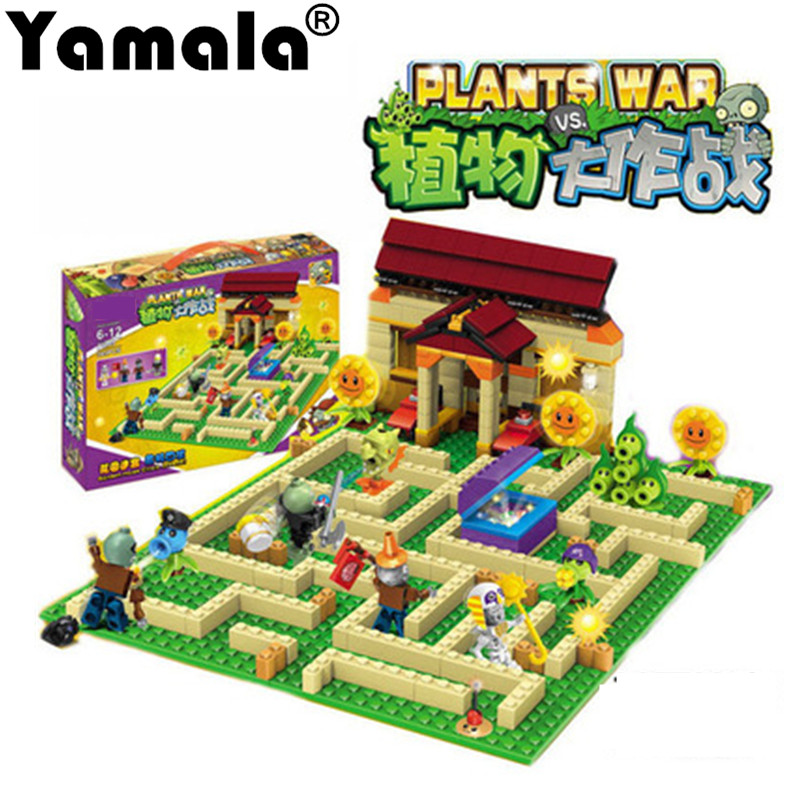 [Yamala] New plants vs zombies struck game toy action toy & figures Building Blocks Bricks Compatible Legoing my world minecraft 52pcs set plants vs zombies pvz collection figures toy all the plants and zombies figure toys free shipping