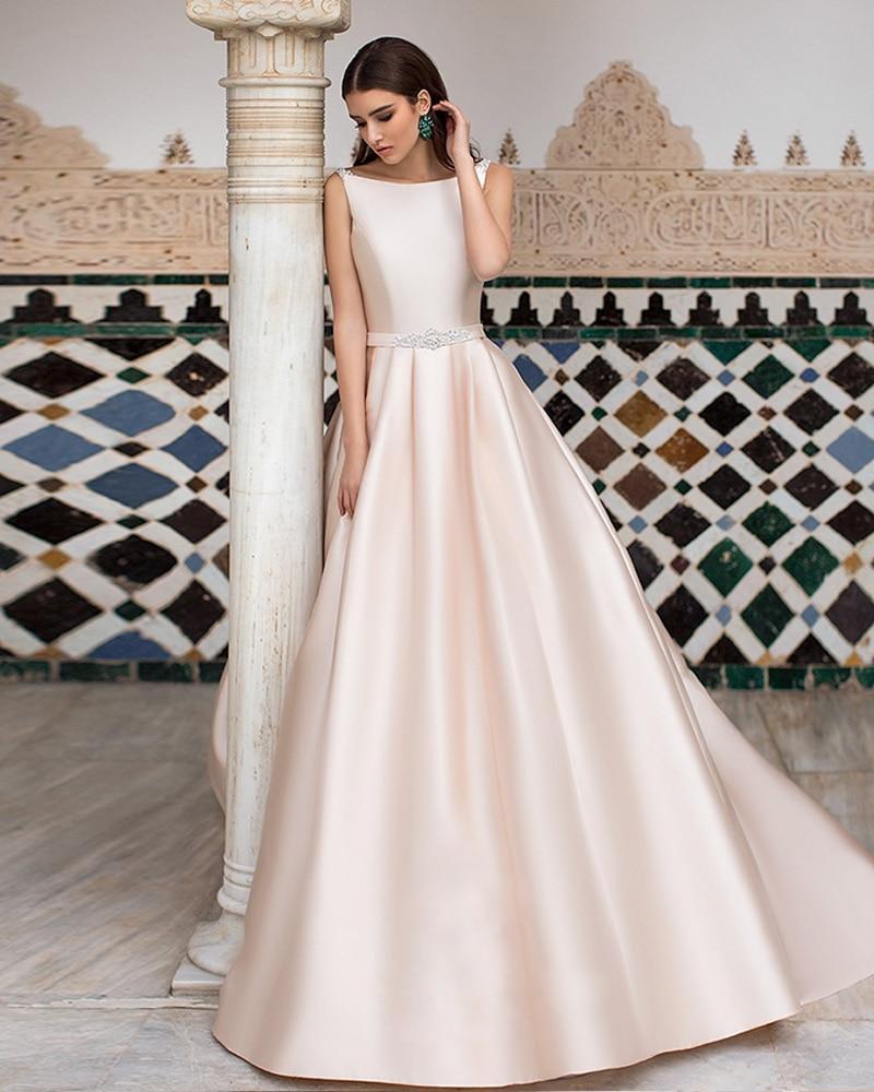 Backless Plus Size A-line Wedding Dress Vintage Robe de Mariee Scalloped Neck Sukienka na Wesele Princess Suknia Slubna