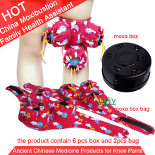 Wholesale Retail Moxa device Moxibustion Box Cotton Bag Relax Massage Knee Muscle 5years old moxa roller цена 2017