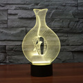 Bird In Vase Night Light Childrens Active Nightlight Decorative 3D Cageling Lamp Table Desktop Deco for Kids Baby