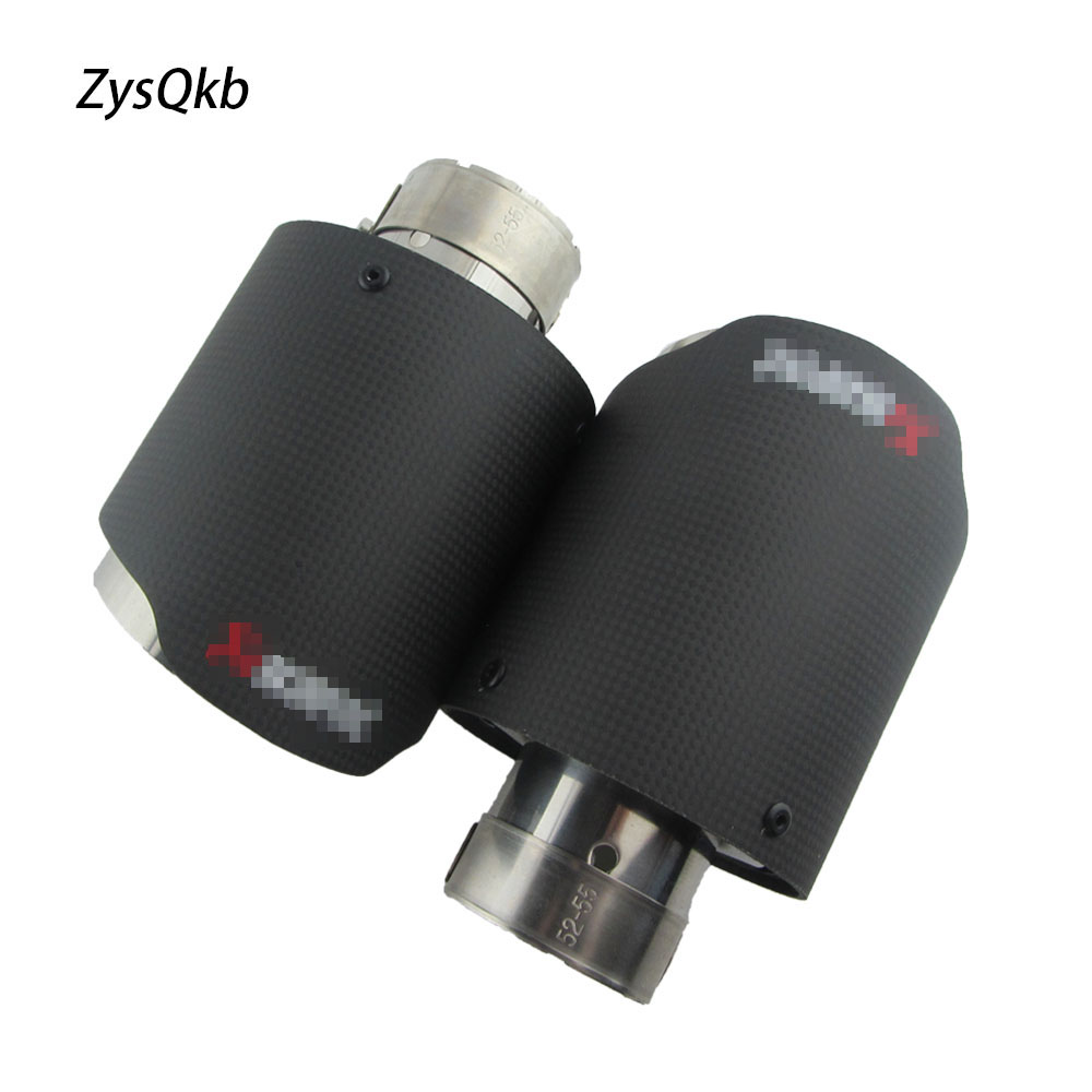 2X Universal Car Styling Akrapovic Exhaust Tip Carbon Fiber Muffler Pipe Car styling For HONDA Cooper