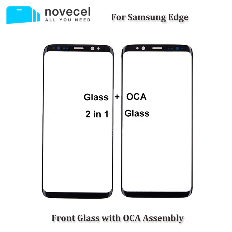 2 in 1 Original Outer Screen Glass with OCA Assembly For Samsung Galaxy S7 edge S8 S9 + Note 8 9 Cracked Touch Glass Replacement
