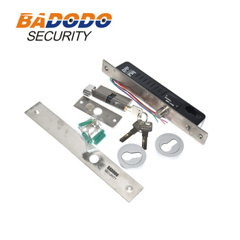 Fail secure Electric Bolt Lock With Time Delay, Electric Drop Bolt Lock with key cylinder Low Temperature