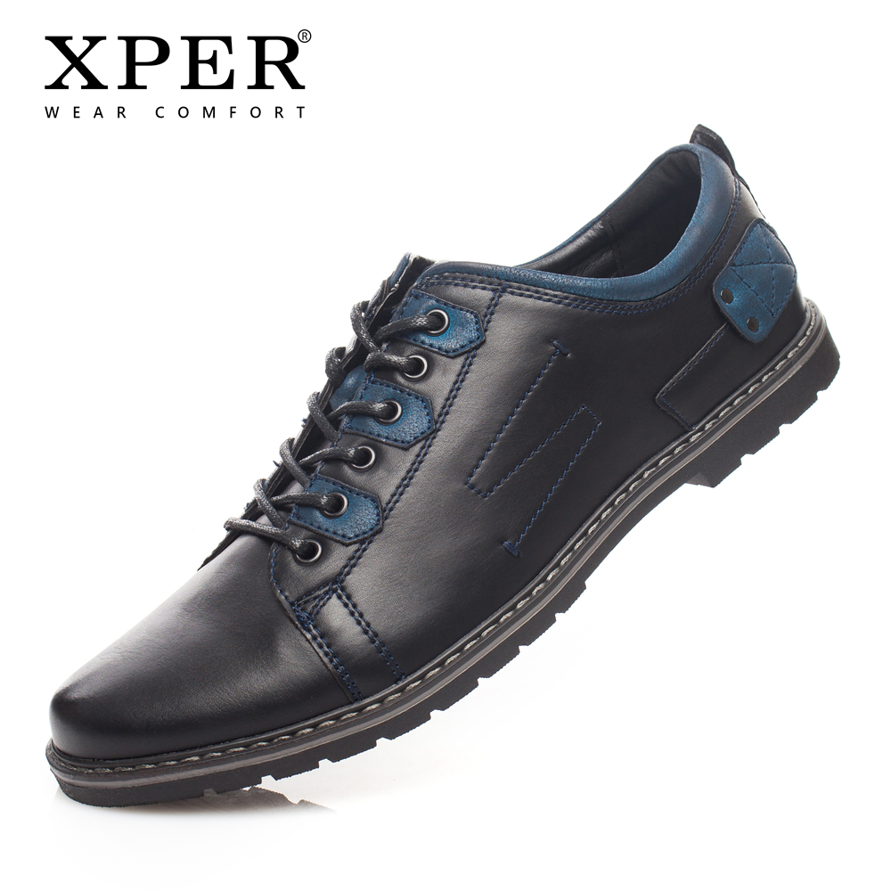 2018 XPER Brand Lether Men Casual Shoes Mixed Colours Fashion Men Flats Shoes Business Luxury Shoes Big Size Footwear #YM86819BU