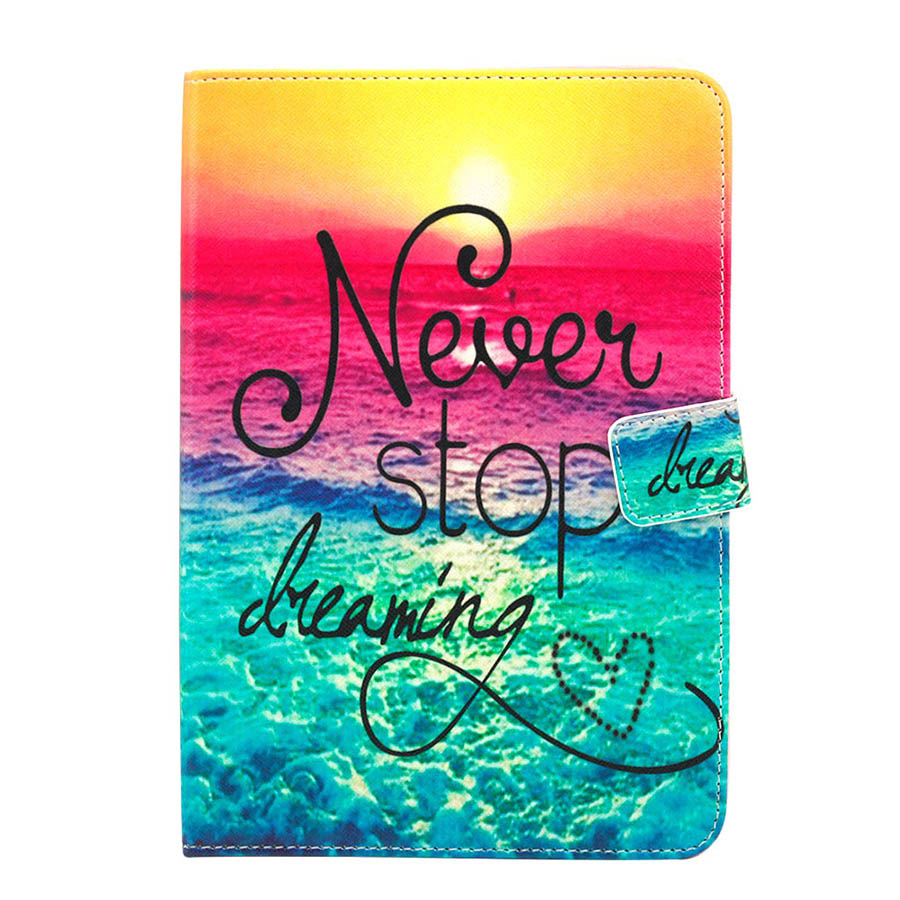 Printed PU Leather Case For Samsung Galaxy Tab A 8.0 T350 T355 SM-T350 SM-P350 Tablet Flip Case Stand Smart Cover Skin