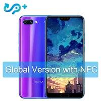 Huawei Honor 10 глобальная версия 4 Гб 128 мобильный телефон NFC Android 8,1 4 * Камера 24MP 3400 мАч QuickCharge